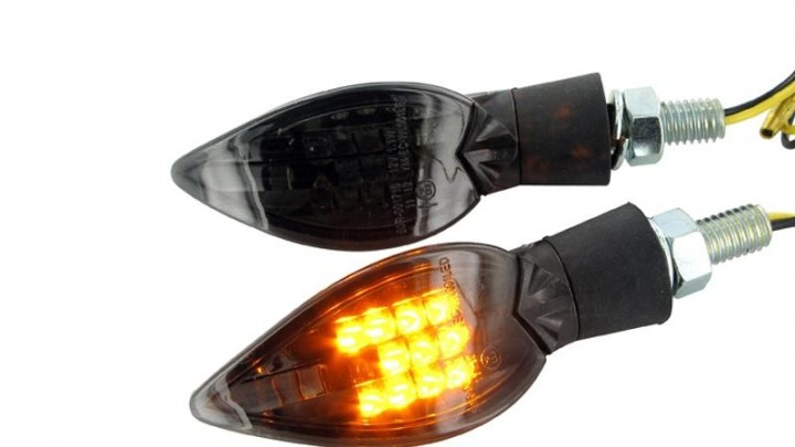 Blinker Curve LED Black-Line