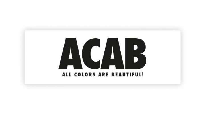 "Aufkleber ACAB - ""All Colors Are Beautiful!"""