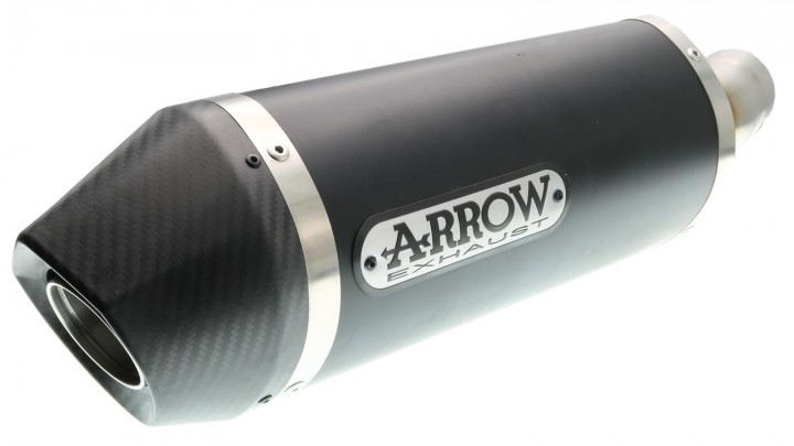 Slip- On Endschalldämpfer Arrow Race-Tech Black Line Carbon